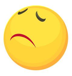 Sorry smiley icon cartoon style vector
