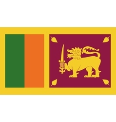 Sri Lanka flag image vector image