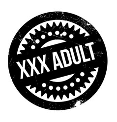 xxx adult rubber stamp vector image