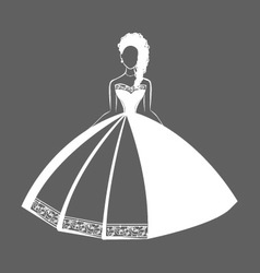 Wedding dress 2 vector