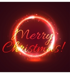 Shining christmas star circle festive card design vector