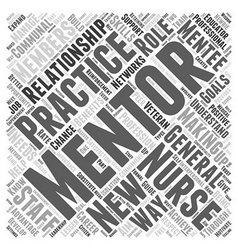 Mentoring and nursing word cloud concept vector