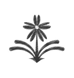 Drawing flower decorate ornate style vector