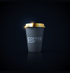paper coffee cup mock-up vector image