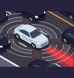 vehicle autonomous driving technology car vector image