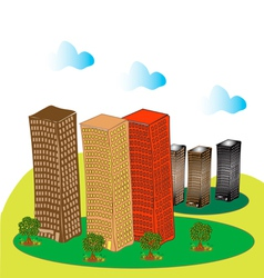 Multi storey buildings and trees 1 vector