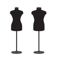 Mannequins for clothes male and female set vector