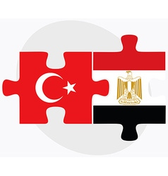 Turkey and egypt flags vector