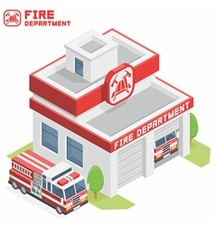 Fire department building vector