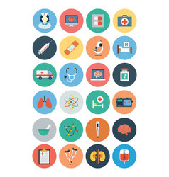 Flat medical and health icons 1 vector