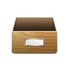 File cabinet for documents vector