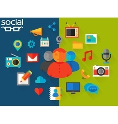 Social networking concept vector
