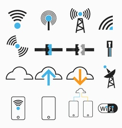 Wireless internet network vector