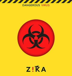 Stop zika dangerous virus caution virus threat vector