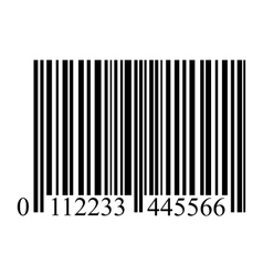 Bar code on a white background isolated vector
