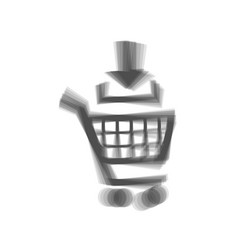 Add to shopping cart sign gray icon vector