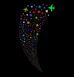 Airplane random stream vector