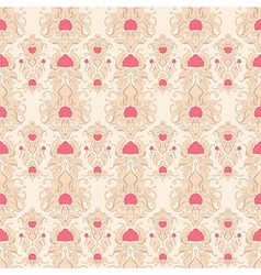 Beige retro pattern vector