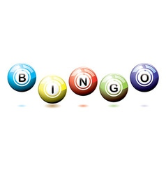 Bingo balls bounce vector