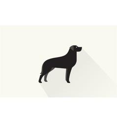 Black retriever icon vector