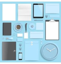 Branding mockup blue business vector