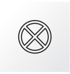 Cancel icon symbol premium quality isolated exit vector