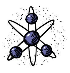 Cartoon image of atom icon atom symbol vector
