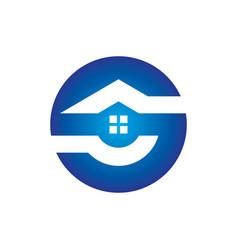 circle home building logo vector image vector image