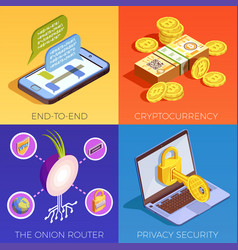 Digital currency design concept vector