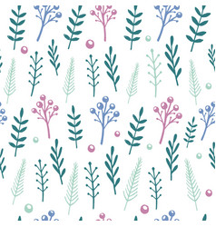 floral pattern with handdrawn flowers and vector image