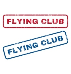 Flying Club Rubber Stamps vector image