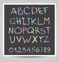 Handwritten English alphabets and digits vector image vector image