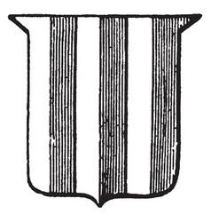 Heraldry paly have vertical stripes vintage vector