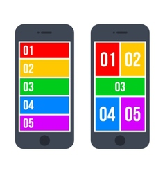 Infographic Smartphone Concept in Flat Style vector image vector image