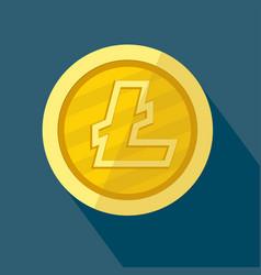 litecoin icon as golden coin vector image vector image