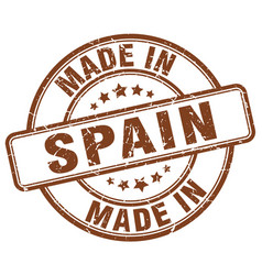 Made in spain brown grunge round stamp vector