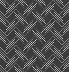 Monochrome pattern with white diagonal uneven vector