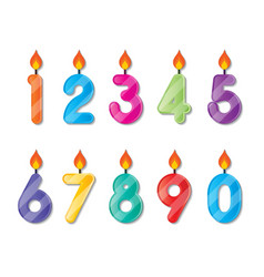 number candles vector image