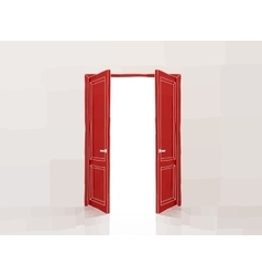 Red doors vector