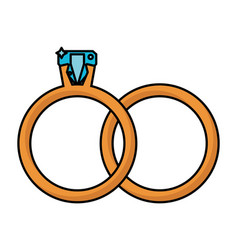 rings jewelry wedding symbol vector image