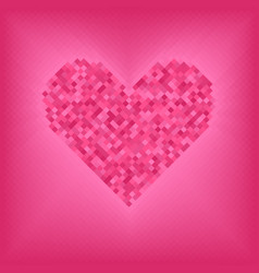 Rose diamond heart on pink and rose background vector