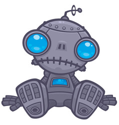 sad robot vector image