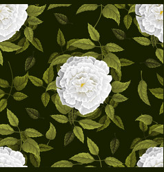 Seamless floral pattern with flowers vector