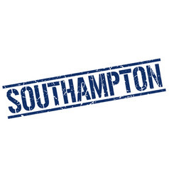 Southampton blue square stamp vector