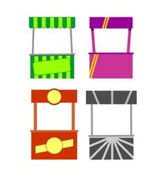 Street food kiosk vector
