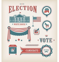 usa election icon set vector image vector image