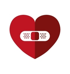 Bandage and heart shape icon love design vector