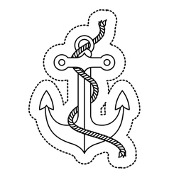 Isolated anchor with rope design vector