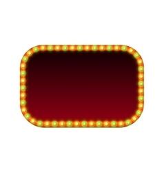 Blank rectangular retro light banner with lights vector