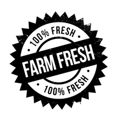 Farm fresh stamp vector image